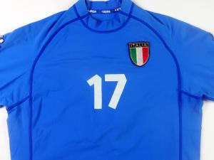 2000-01 Italia Maglia #17 Match Issue Home XL