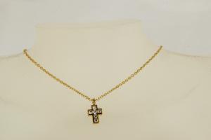 Collana in Oro con Croce di Diamanti