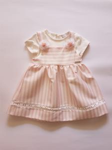 Vestito neonata 9-36 mesi a righe rosa