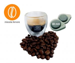 150 cialde espresso 38 mm miscela fervore per macchine caffe diametro 38mm
