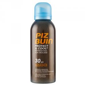 PIZ BUIN Protect & Cool Refreshing Sun Mousse SPF 30/rinfrescante Schiuma Protezione Solare con effetto di raffreddamento