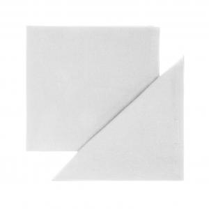 Set 4 tovaglioli puro cotone tinta unita orlo semplice 40x40 bianco