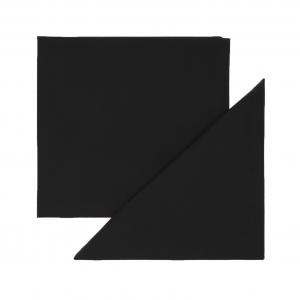 Set 4 tovaglioli puro cotone tinta unita orlo semplice 40x40 nero