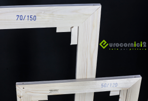 Telai 25x45 per tele - standard - profilo 2 cm - in legno di abete stagionato