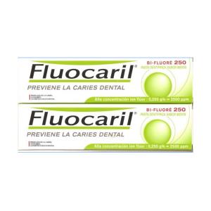 Fluocaril Pasta Dentífrica Sabor Menta Prevención Caries 2x125ml