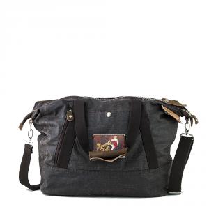 Avirex- D Day - Borsa da donna a tracolla in canvas marrone scuro cod. DDY-F02