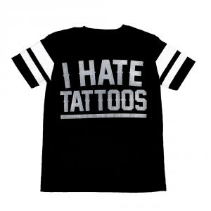 T-shirt traforata I HATE TATTOOS