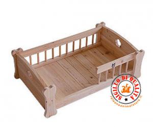 Lettino Cuccia in legno per cani e gatti pet bed wood