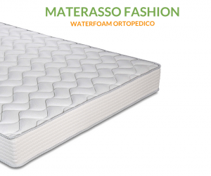 Materasso in Waterfoam alto 20 cm Ortopedico, Rivestimento effetto Massaggiante, Anallergico e Antiacaro
