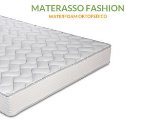 Materasso in Waterfoam alto 20 cm Ortopedico, Rivestimento effetto Massaggiante, con cuscino in omaggio | FASHION 2.0