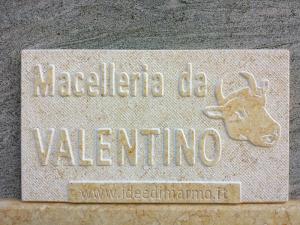 Insegna personalizzata in marmo per macelleria