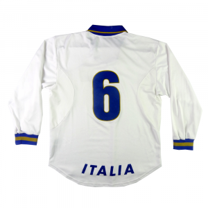 1996 Italia Maglia Away #6 Carboni Player Issue XL (Top)