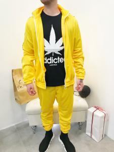 Completo tuta uomo felpa e pantalone in tessuto lucido con d'andata laterale| TG M,  L,  XL,XXL