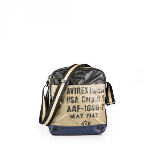 Avirex - 1492 - Borsa a tracolla unisex in cotone cerato medio 1 scomparto multicolore cod. 02A