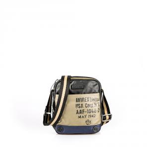 Avirex - 1492 - Borsa a tracolla unisex piccolo in cotone cerato 1 scomparto multicolore cod. 02A