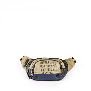 Avirex - 1492 - Marsupio in cotone cerato 1 scomparto multicolore cod. 18A