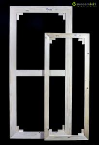 Telai 80x90 per tele - standard - profilo 2 cm - in legno di abete stagionato