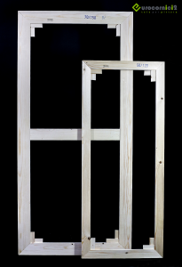 Telai 120x120 per tele - standard - profilo 2 cm - in legno di abete stagionato