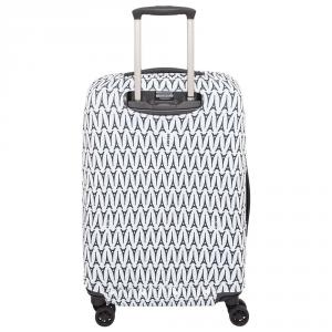 Delsey - Copri valigia elastica M/L bianco e nero Tour Eiffel cod. 3940180