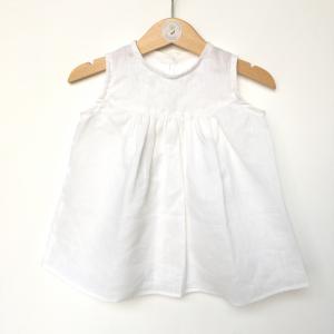 Vestitino in lino bianco