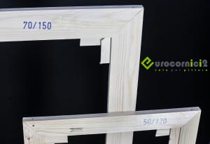 Telai 140x180 per tele - standard - profilo 2 cm - in legno di abete stagionato-2