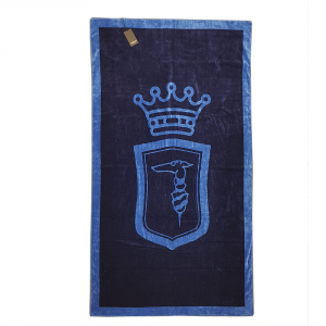 Telo da mare in spugna 95x180 cm TRUSSARDI Emblem blu