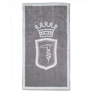 Telo da mare in spugna 95x180 cm TRUSSARDI Emblem grigio