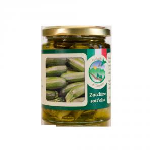 Zucchine sott'olio extra vergine d'oliva – 270 gr