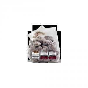 Dragées Uvetta, cioccolato al latte, mandorla amara e sale marino - 80gr