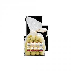 Dragées Pistacchio Cioccolato Bianco Polvere di Arancia e Sale Marino - 150gr