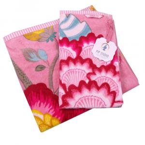 Set 1+1 asciugamano e ospite PIP STUDIO Floral Fantasy rosa