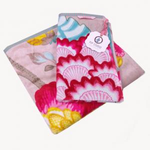 Set 1+1 asciugamano e ospite PIP STUDIO Floral Fantasy khaki