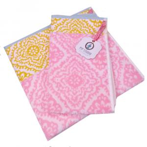 Set 1+1 asciugamano e ospite PIP STUDIO Jacquard Check rosa
