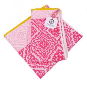 Set 1+1 asciugamano e ospite PIP STUDIO Jacquard Check fuxia
