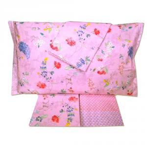 Set lenzuola matrimoniale PIP STUDIO Hummingbirds rosa effetto copriletto