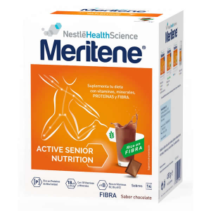 Meritene Active Senior Nutrition Batido Sabor Chocolate Rico En Fibra 14 Sobres