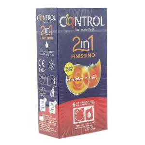 Control Duo Finissimo 2en1 Preservativo+Gel 6 Unidades