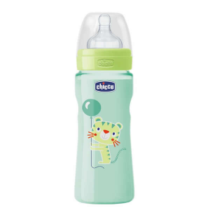 Chicco Well-Being Biberon Silicone PP Flusso Veloce Verde 4m+ 330ml