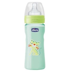 Chicco Well-Being Biberon Silicone PP Flusso Veloce Verde 2m+ 250ml