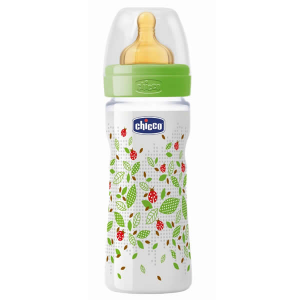 Chicco Well-Being Biberon Caucciù PP Flusso Medio 2m+ 250ml