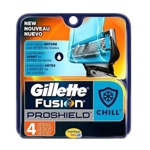 Gillette Fusion Proshield Chargeur Manuel 4 Unités