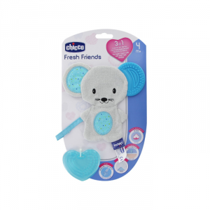 Chicco Fresh Friends Anello Di Dentizione 3 In 1 Blue 4m+