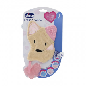 Chicco Fresh Friends Anello Di Dentizione 3 In 1 Pink 4m+