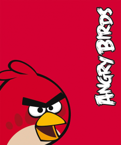 Angry Birds plaid red 150x120 cm