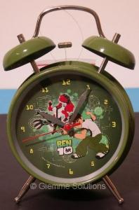 Ben 10 sveglia metallo campane 10 cm verde
