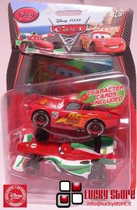 Cars 2 Saetta e Francesco action figure Disney Store