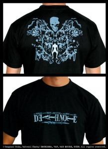 Death Note T-Shirt adulto Maglia Nera manica corta cotone Originale