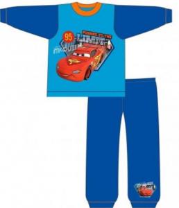 Disney Cars Pigiama Bambino Cotone Azzurro Originale Nuovo