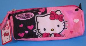 Hello Kitty Astuccio Rosa Nero