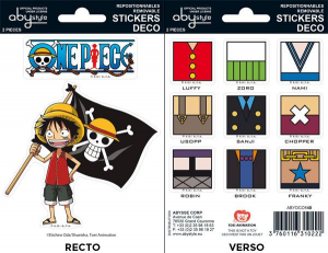 One Piece Luffy mini stickers 16 x 11 cm